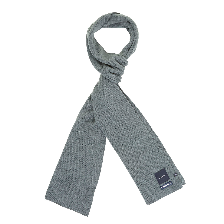 EAN | Fine knitted scarf with TRESANTI logo dark green
