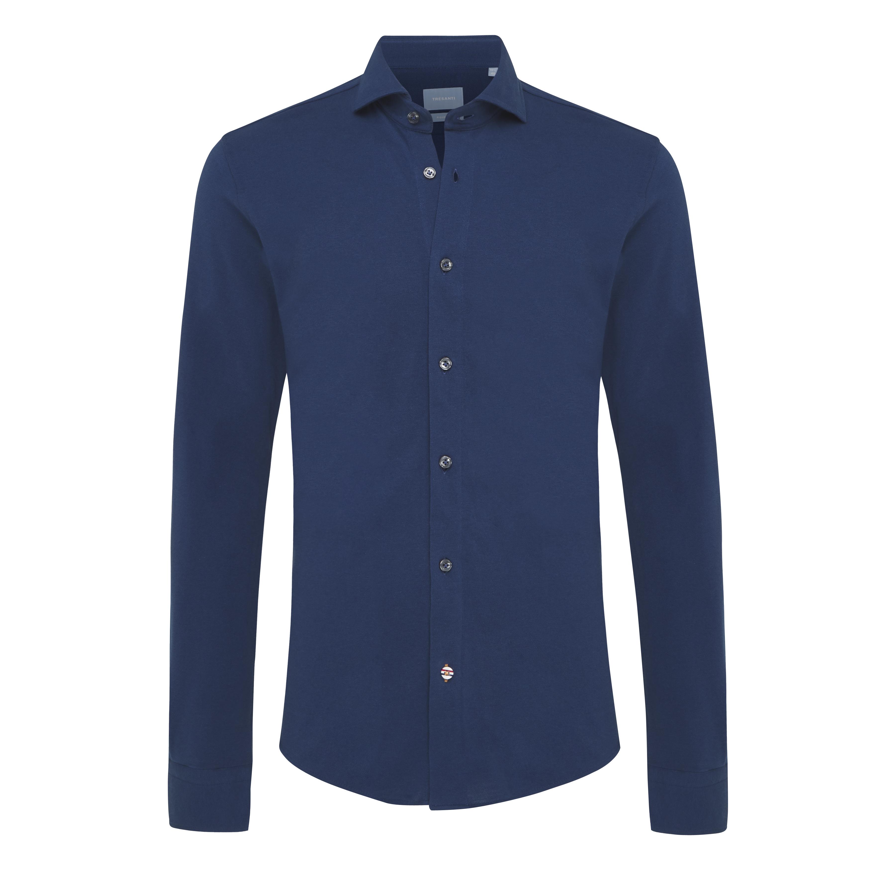 Jason | Shirts knitted denim blue