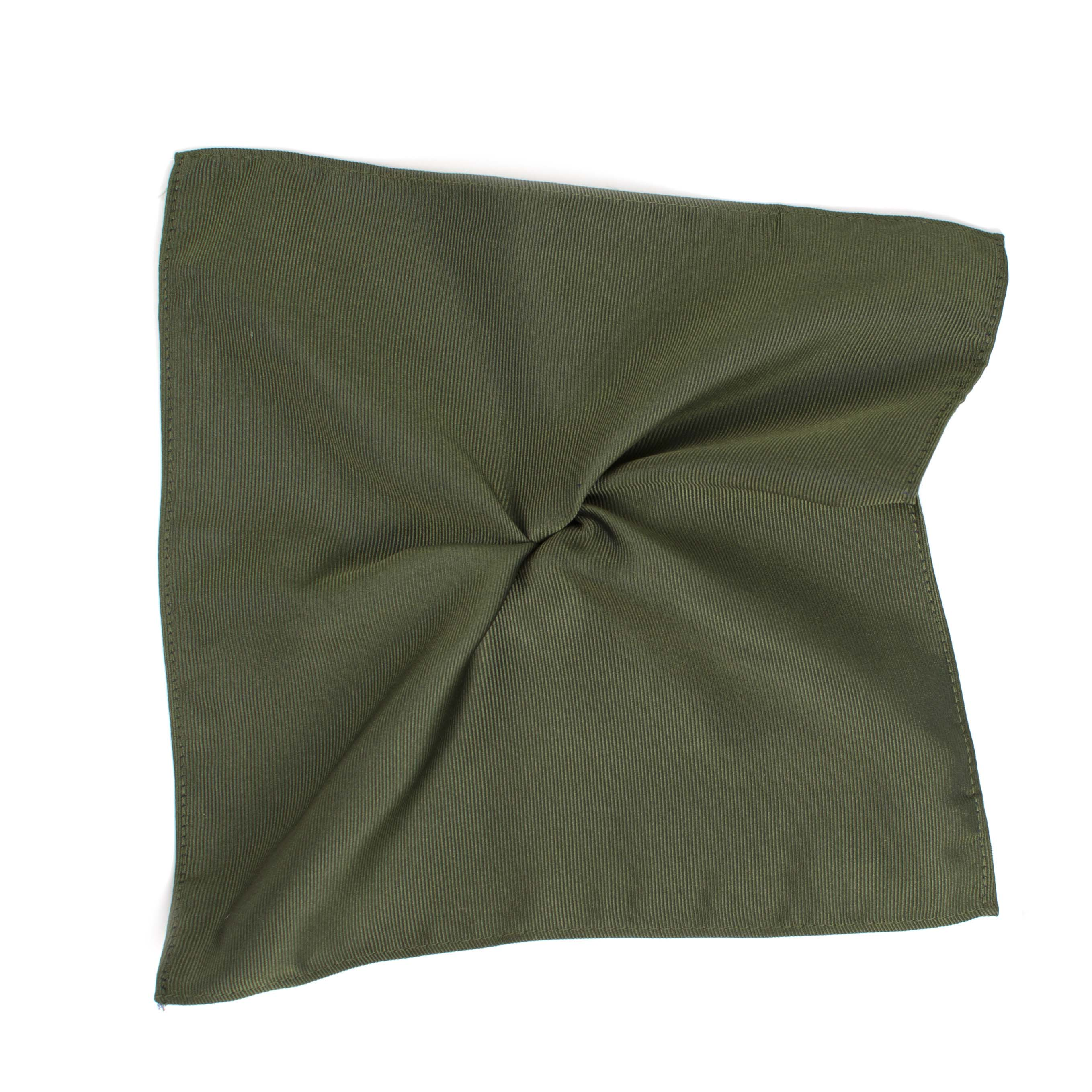 Pocket square classic green ribbed