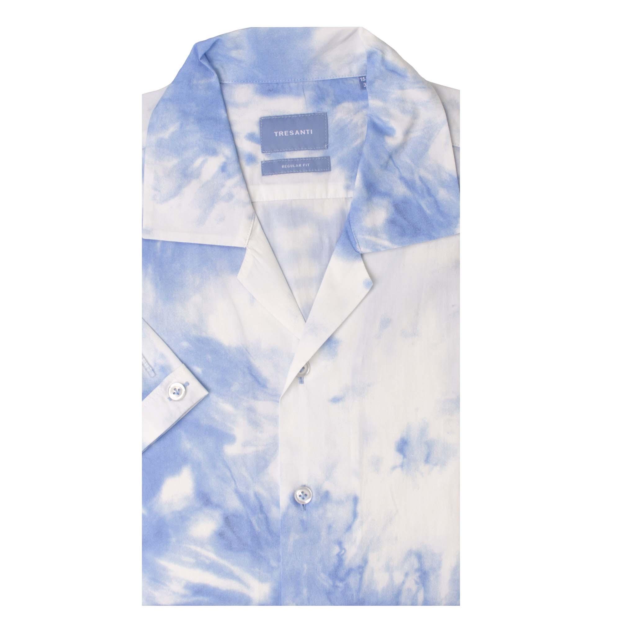 Tyrell | Shirt tie dye print blue | SS