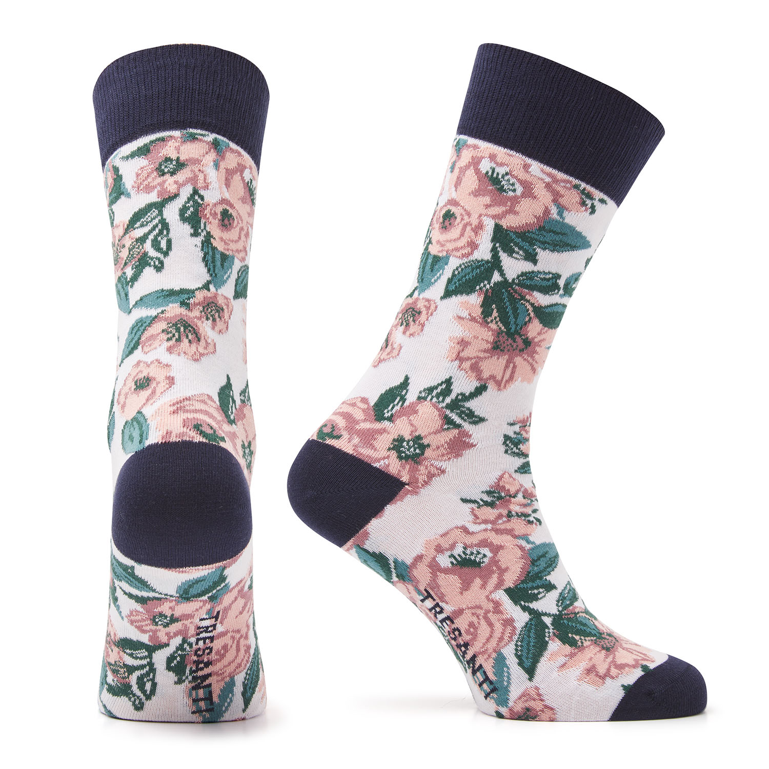 Misja | Cotton socks flowers pink
