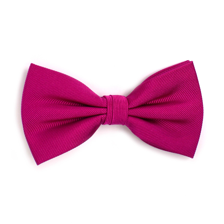 Bow tie classic ribbed fuchsia