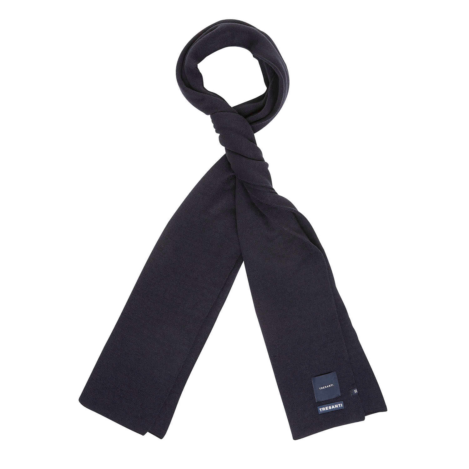 EAN | Fine knitted scarf with TRESANTI logo navy