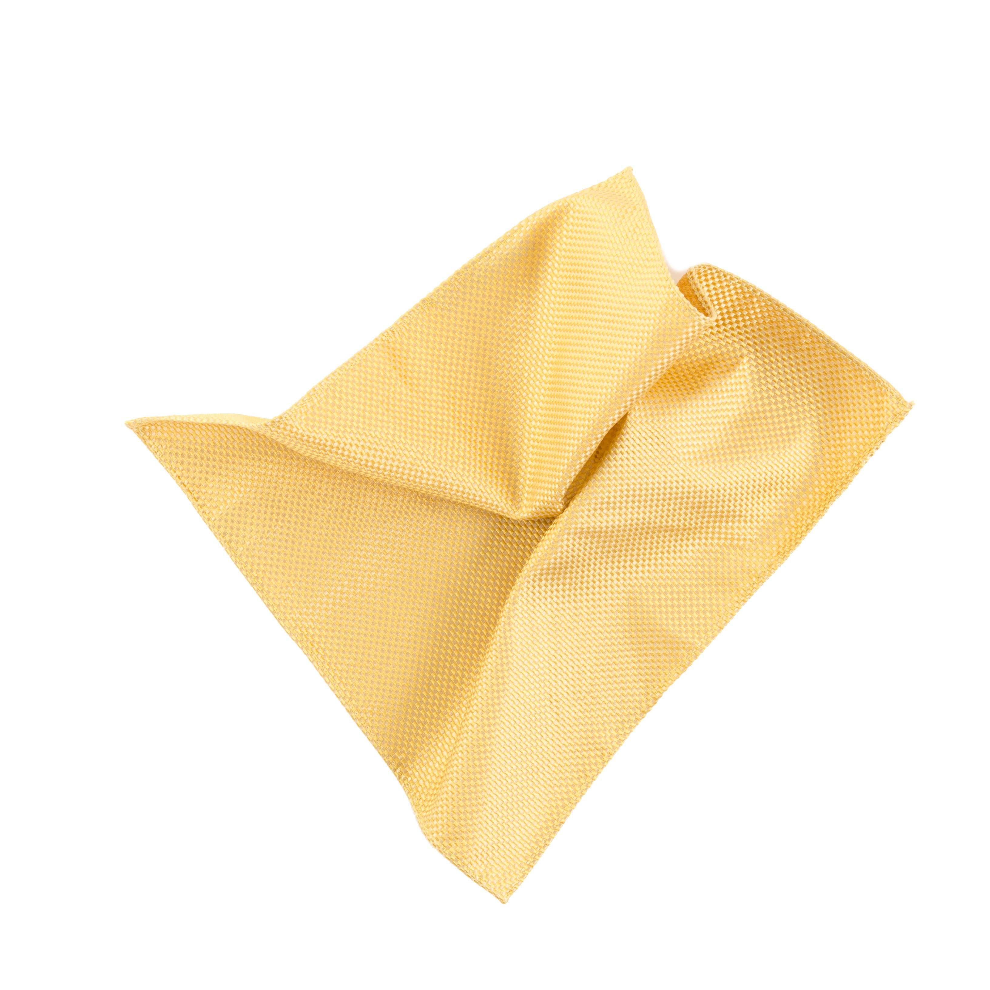 Pocket square yellow panama made of silk