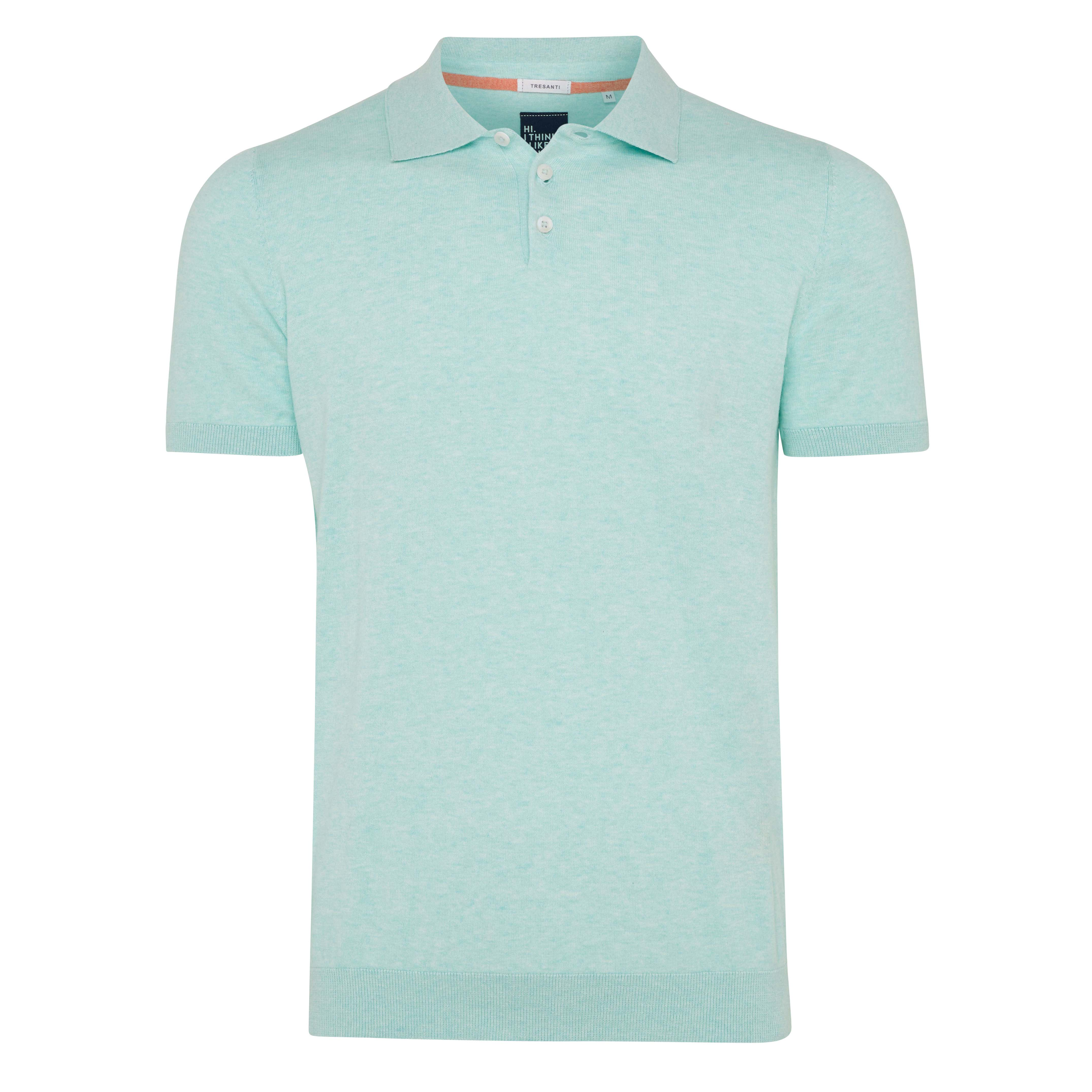 Trevor | Polo pullover mint green