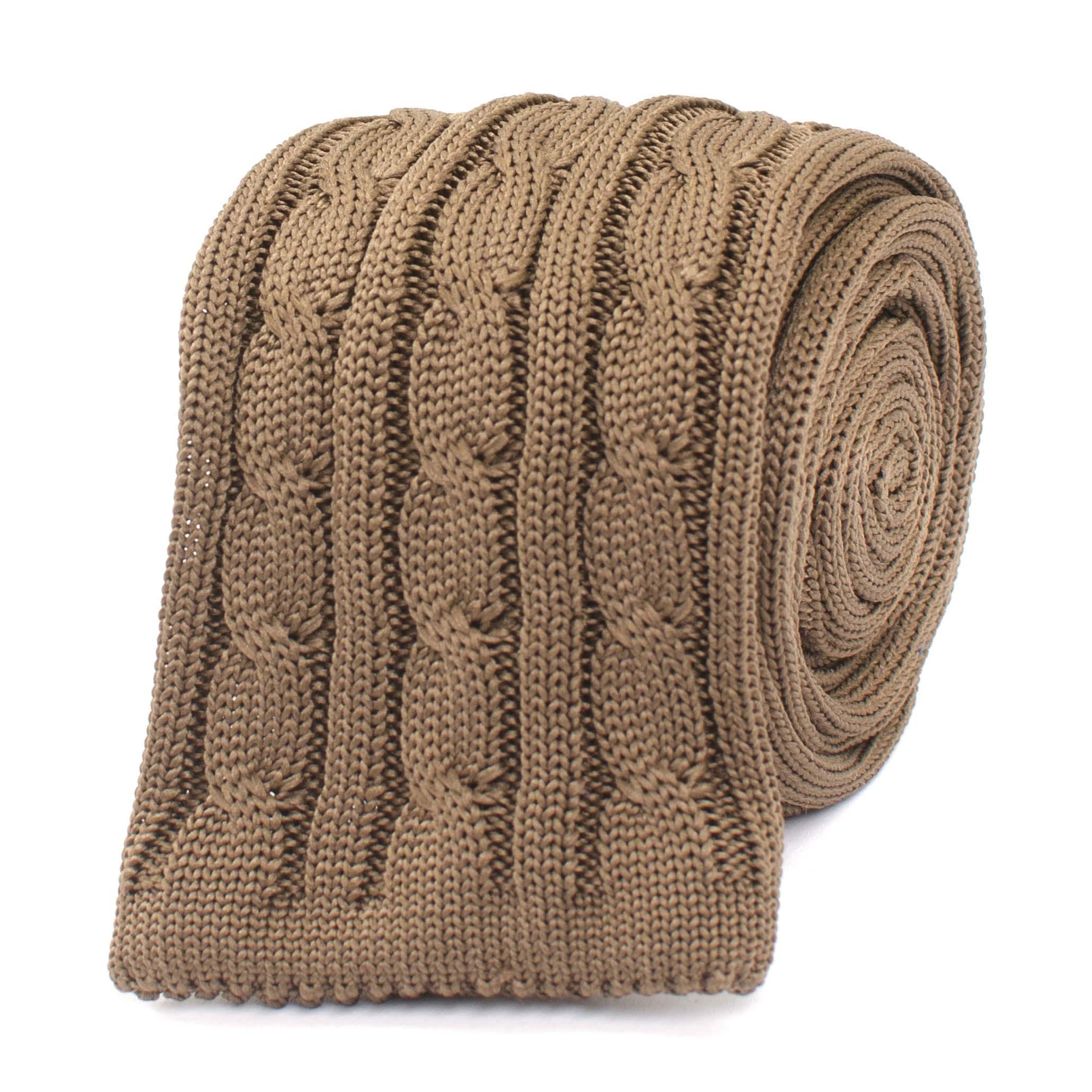 Jethro | Tie knitted chain beige