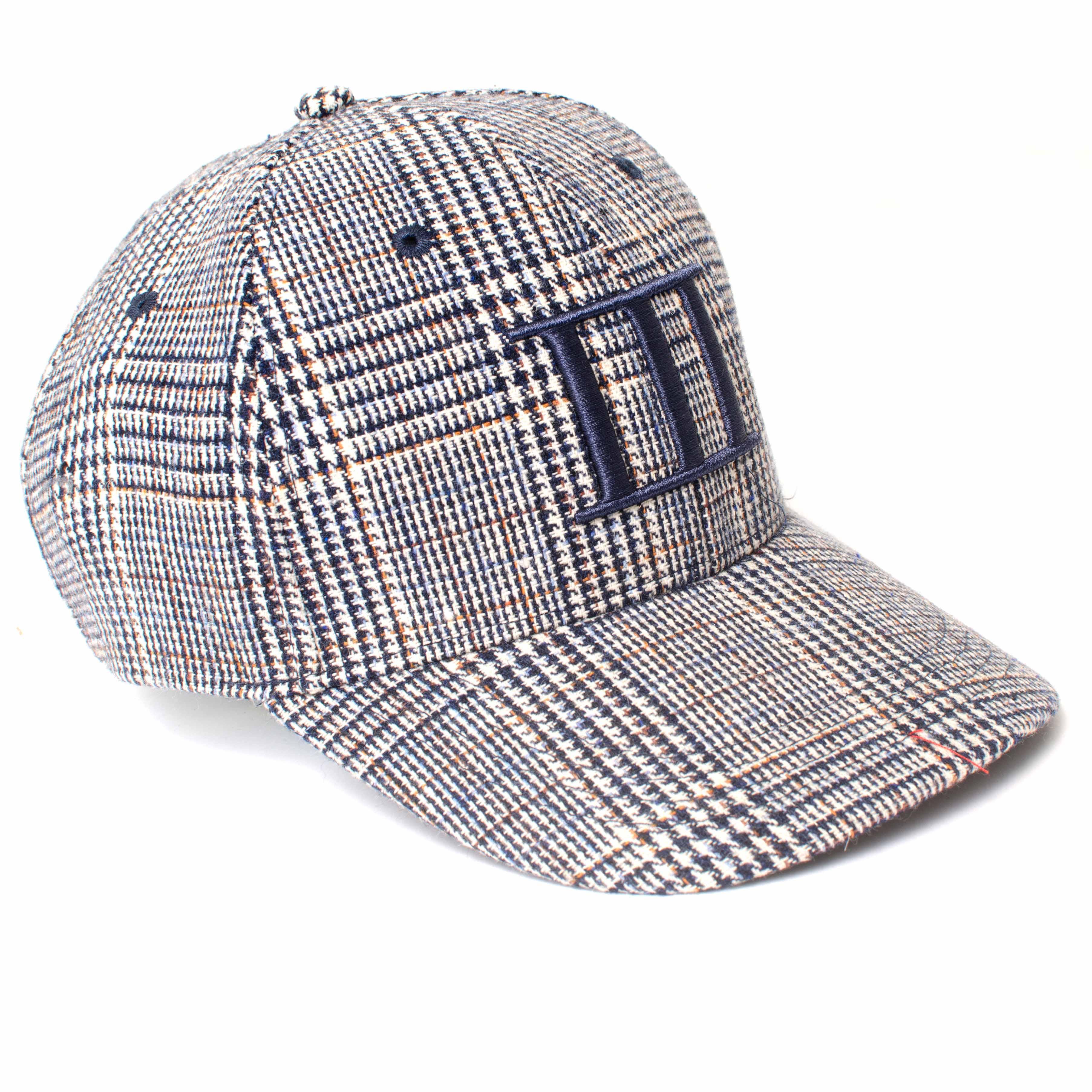 EVERTON   Navy pied-de-poule style baseball cap