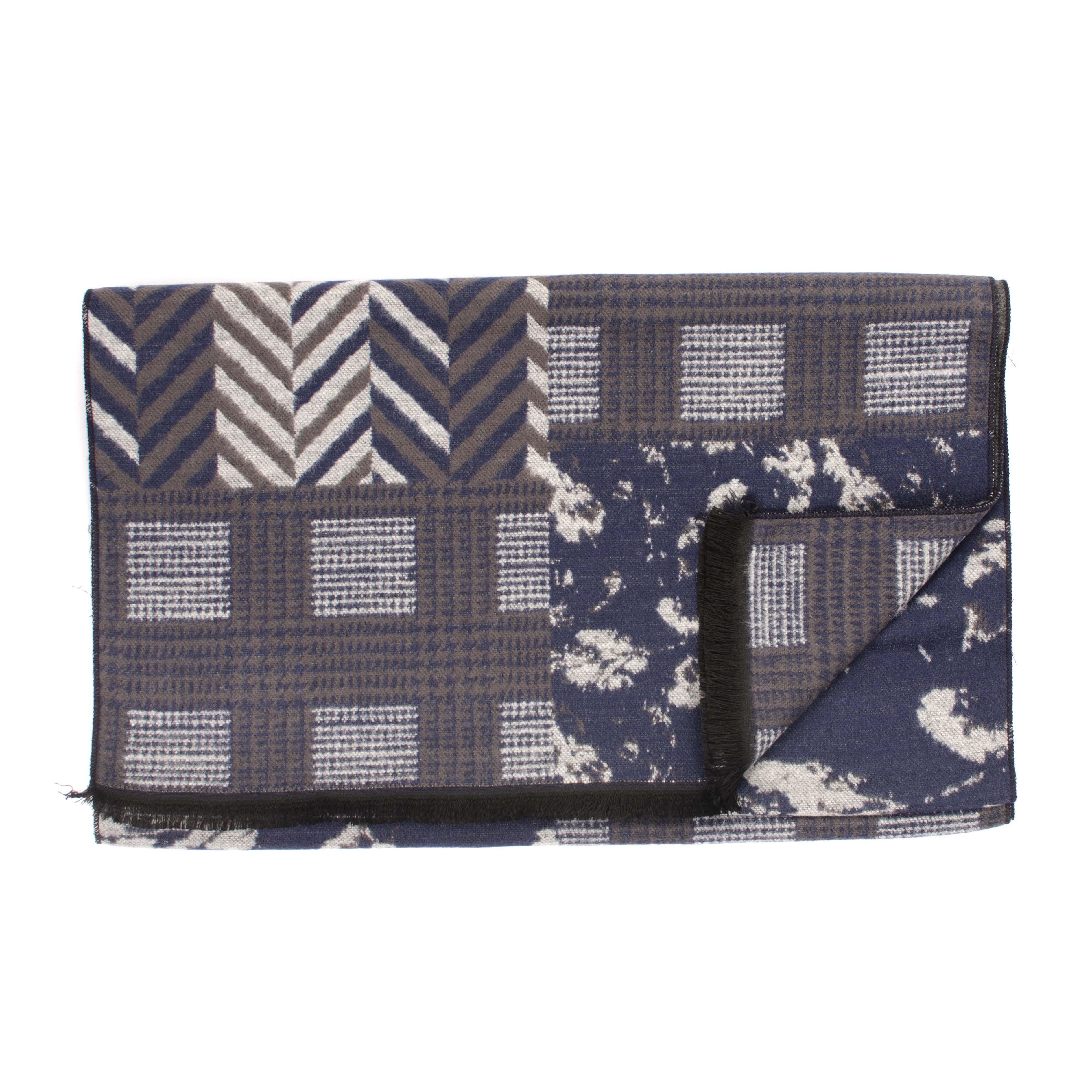 Jarino   Scarf patchwork in navy