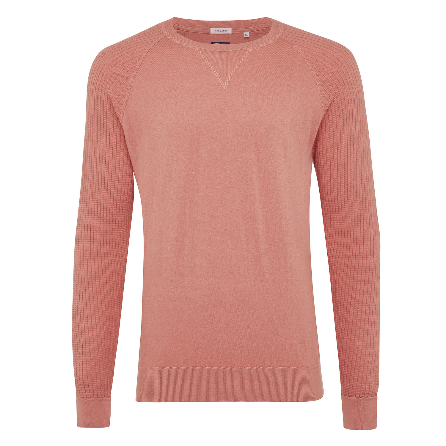 Magnus | Pullover rib sleeves pink cotton/cashmere