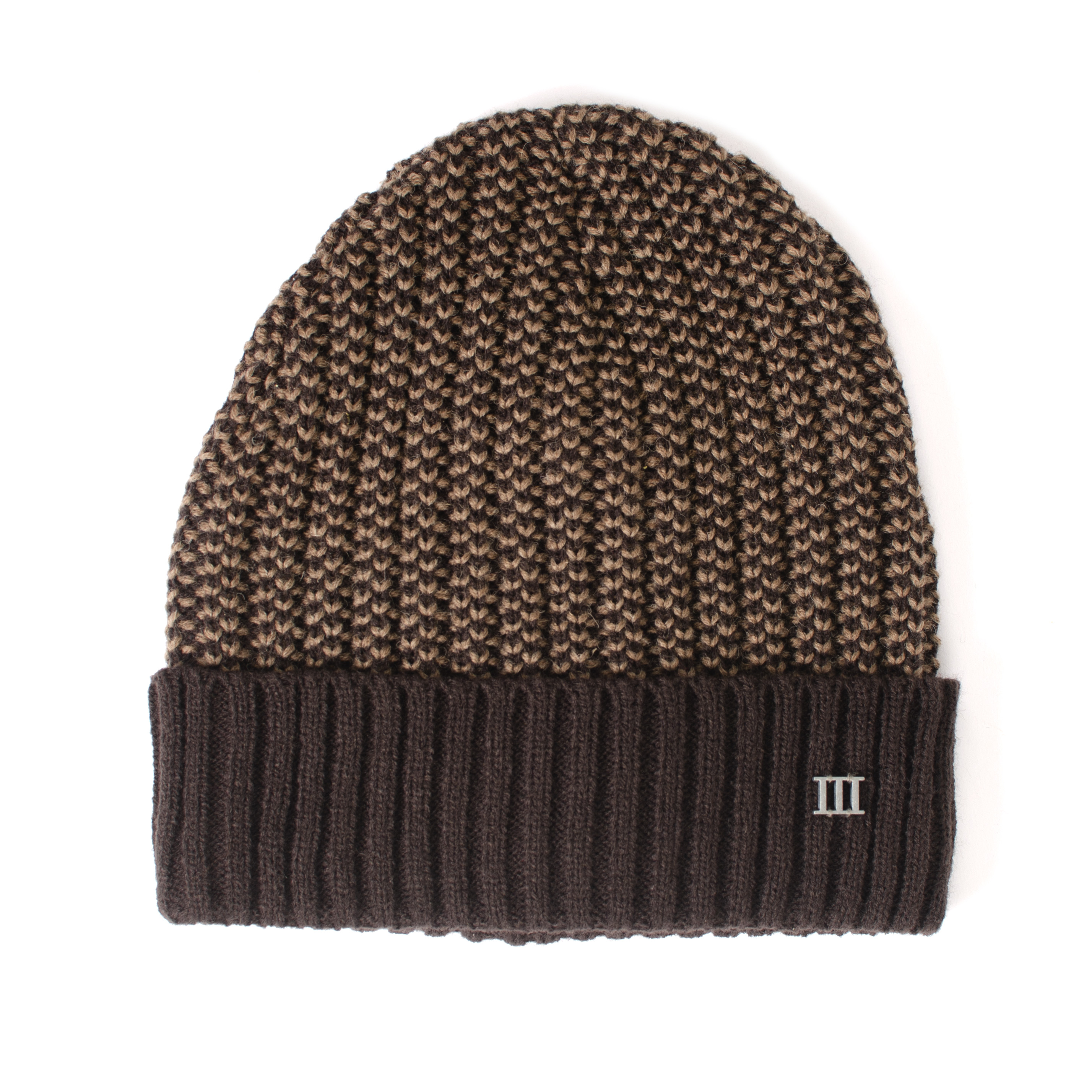 Jaeson | Chunky knit beanie with cuff brown