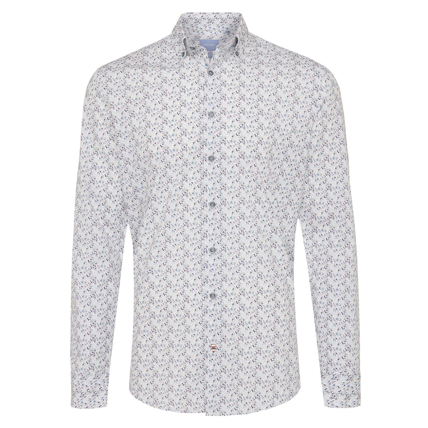 Marein | Shirt multicolour fantasy print - organic cotton