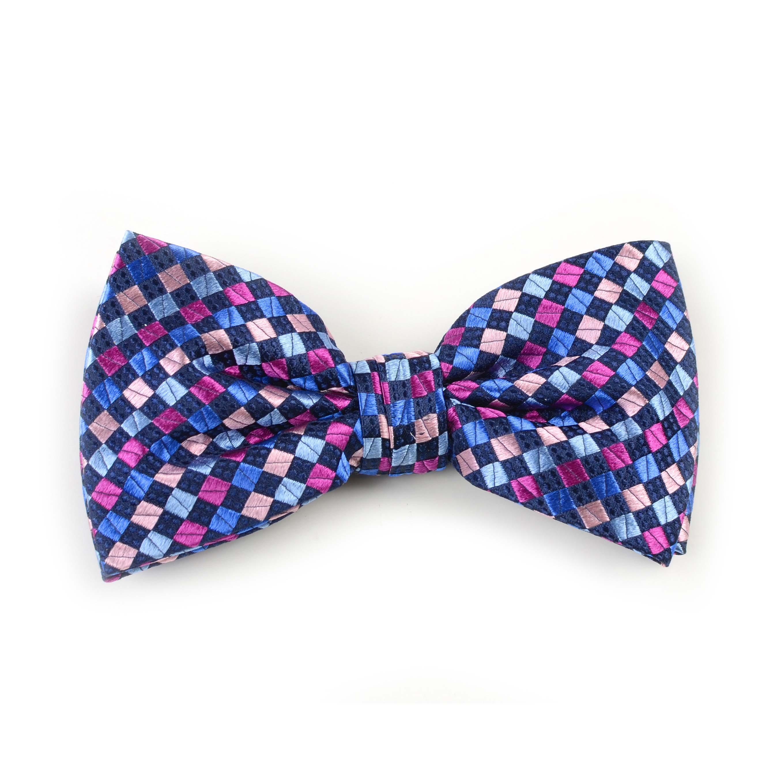 Bow tie silk navy/pink/blue