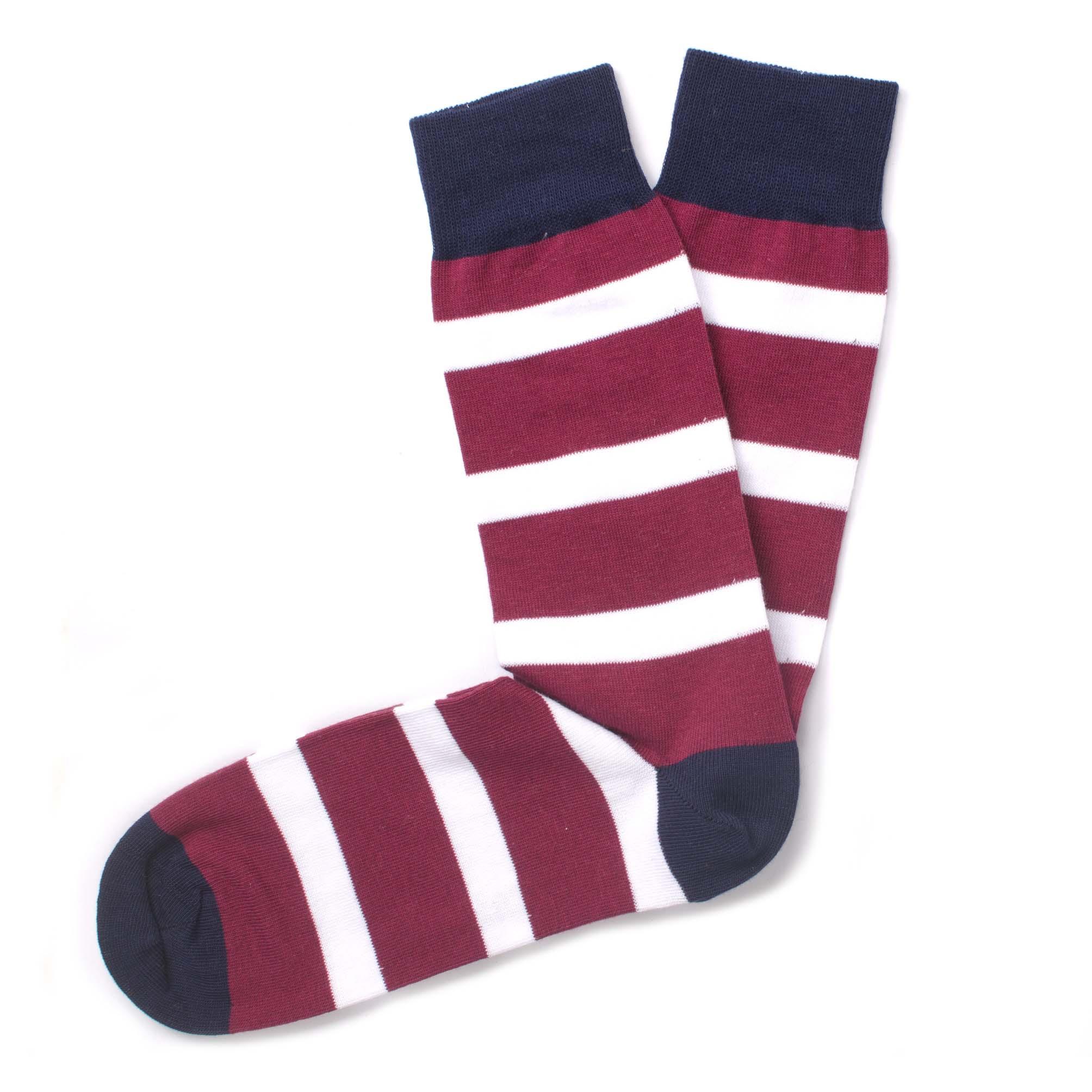 Socks striped red/white