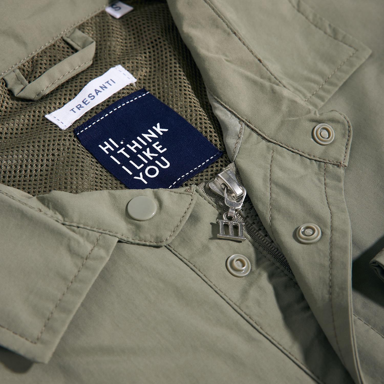 Memphis | Jacket cargo pockets olive