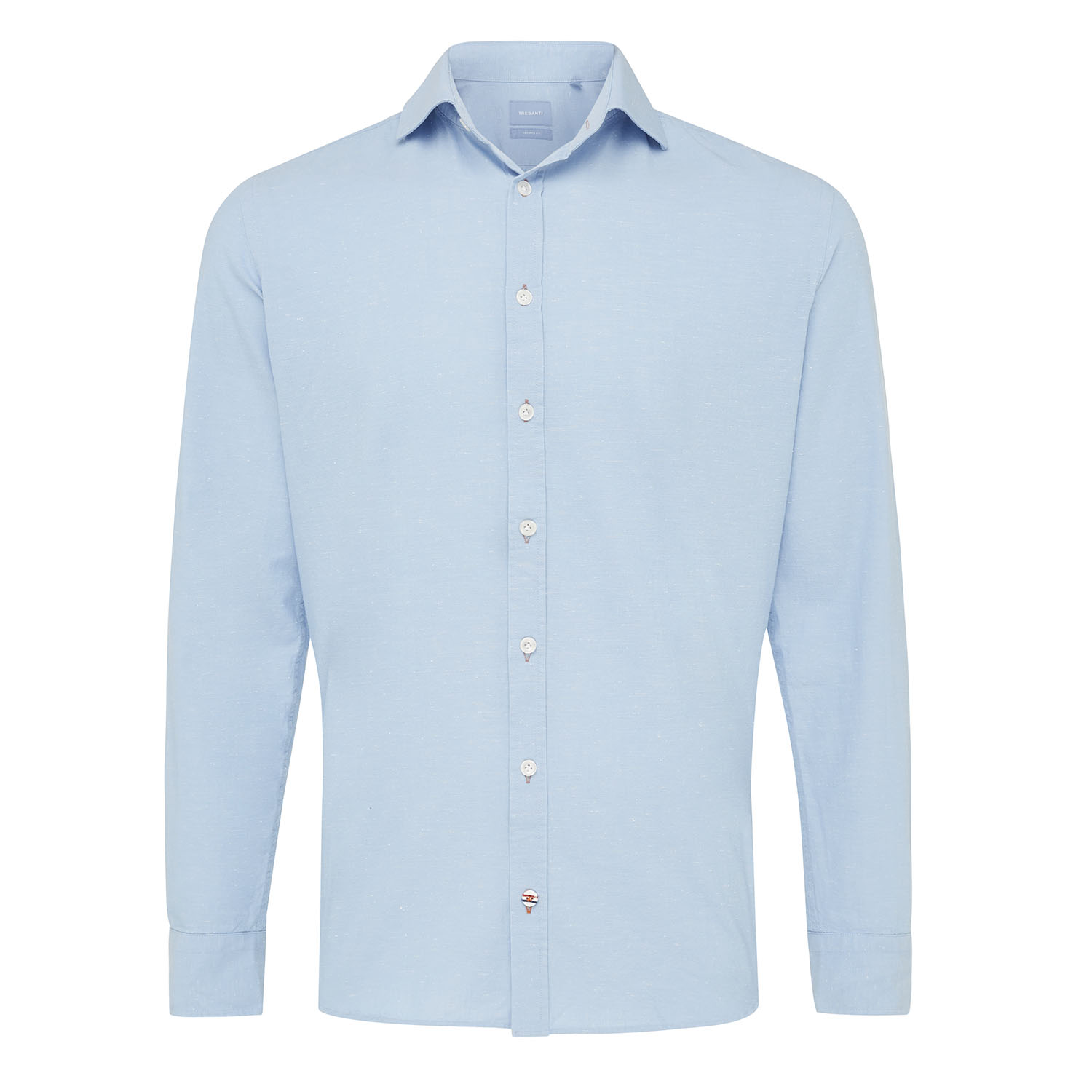 Miguel | Light blue plain shirt
