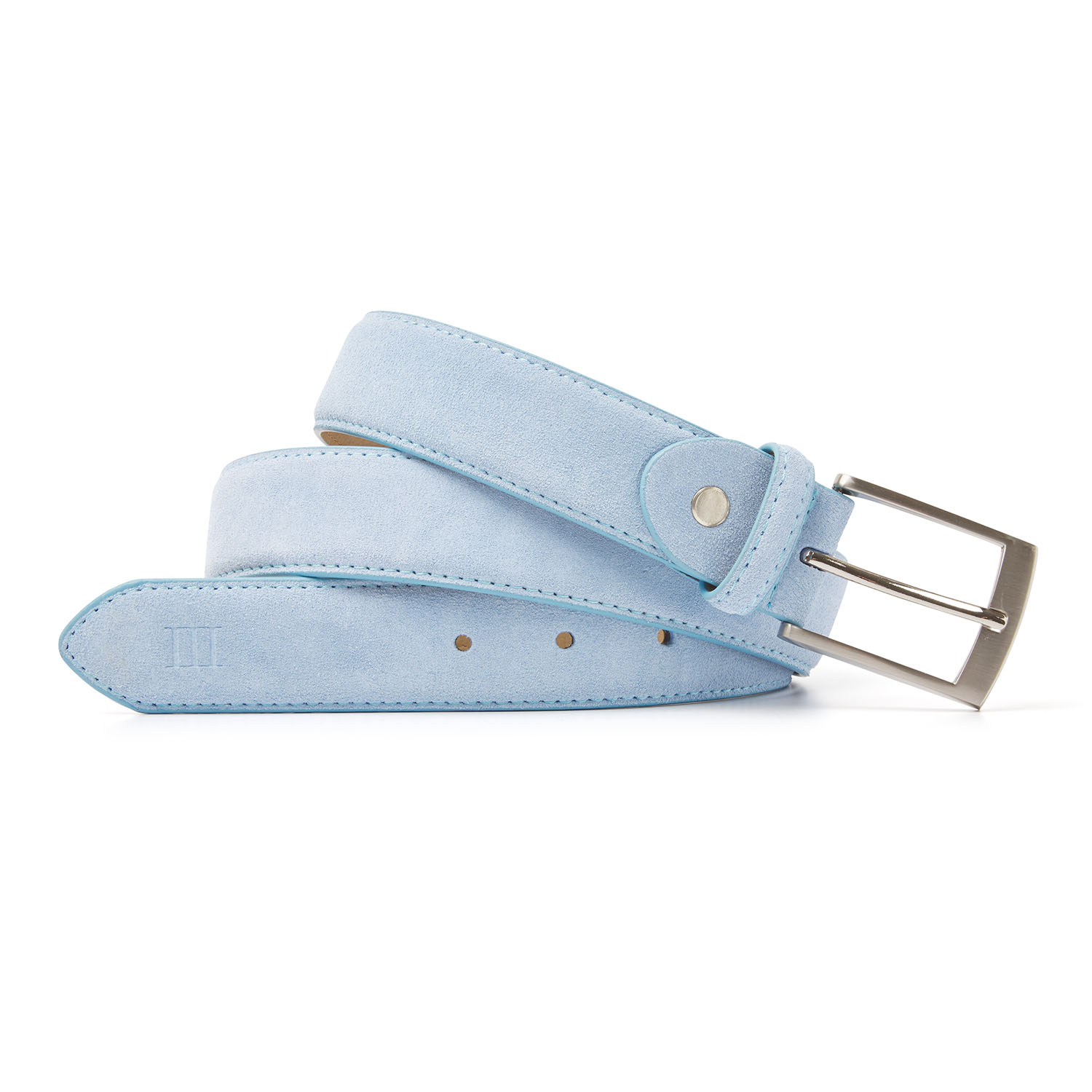 Tyler | Suede belt light blue