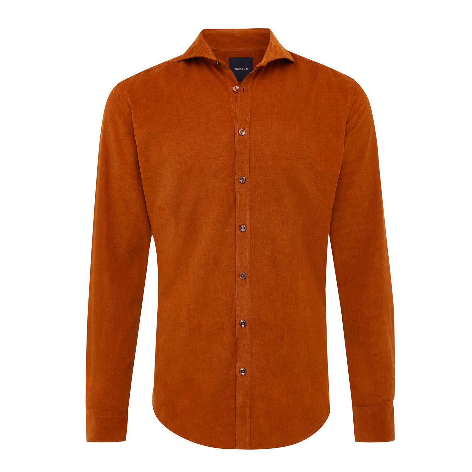 EMRIC   Shirt with button closure and baby cord camel