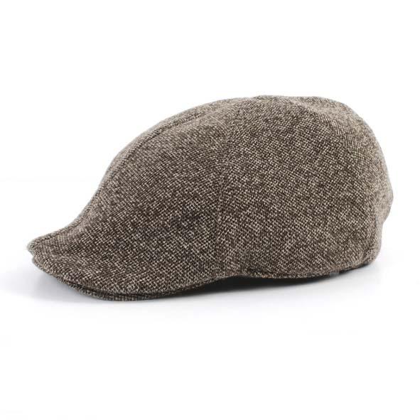 Flat cap, beige melange
