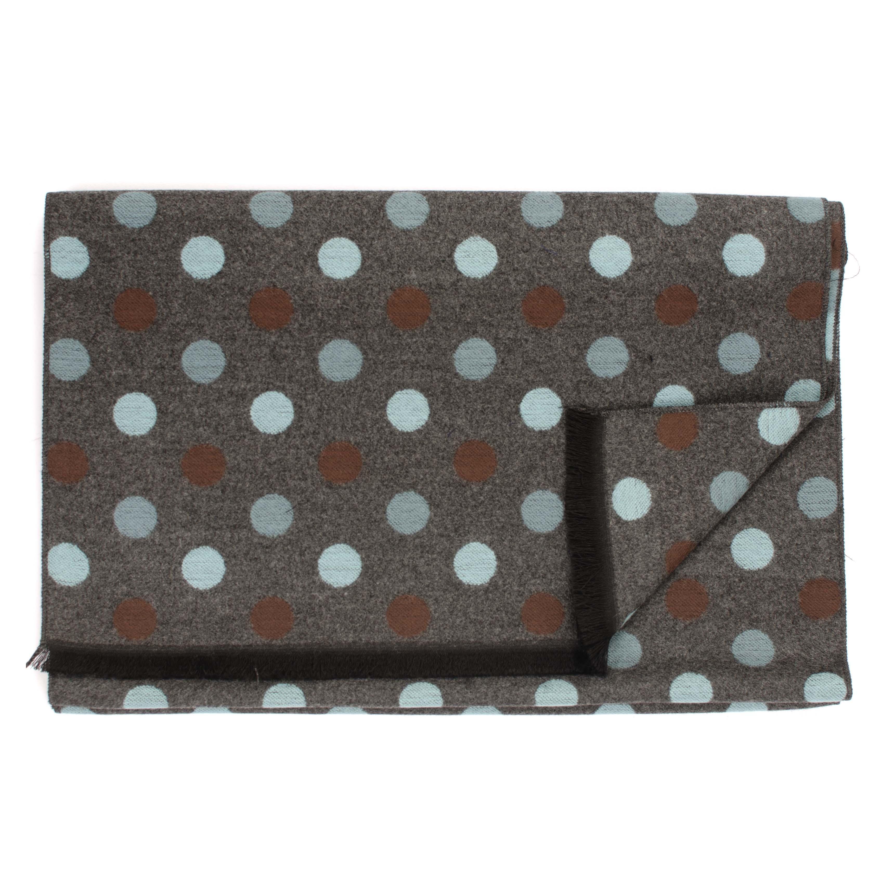 Jarrel | Scarf large dots in brown