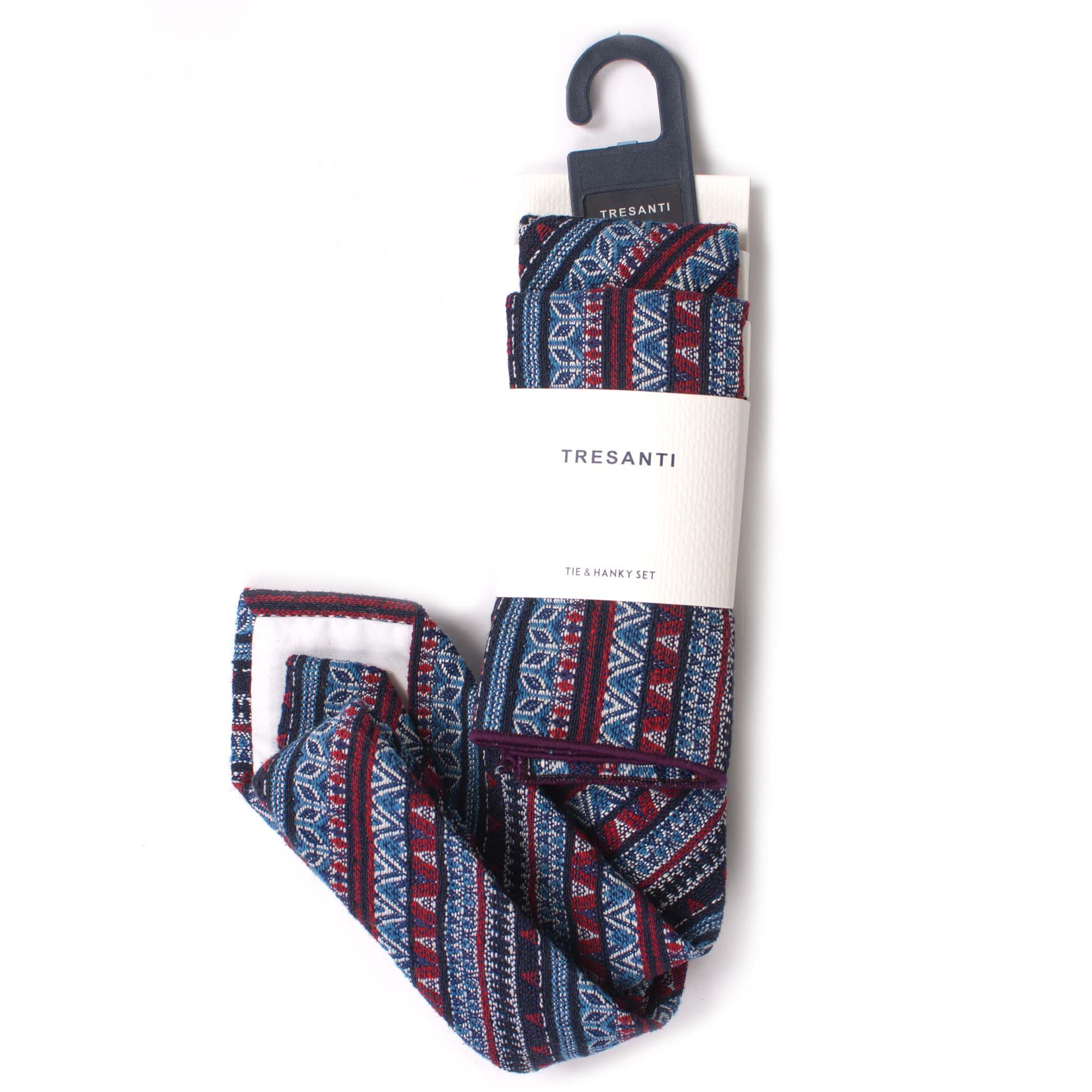 Linen set tie & hanky multi design