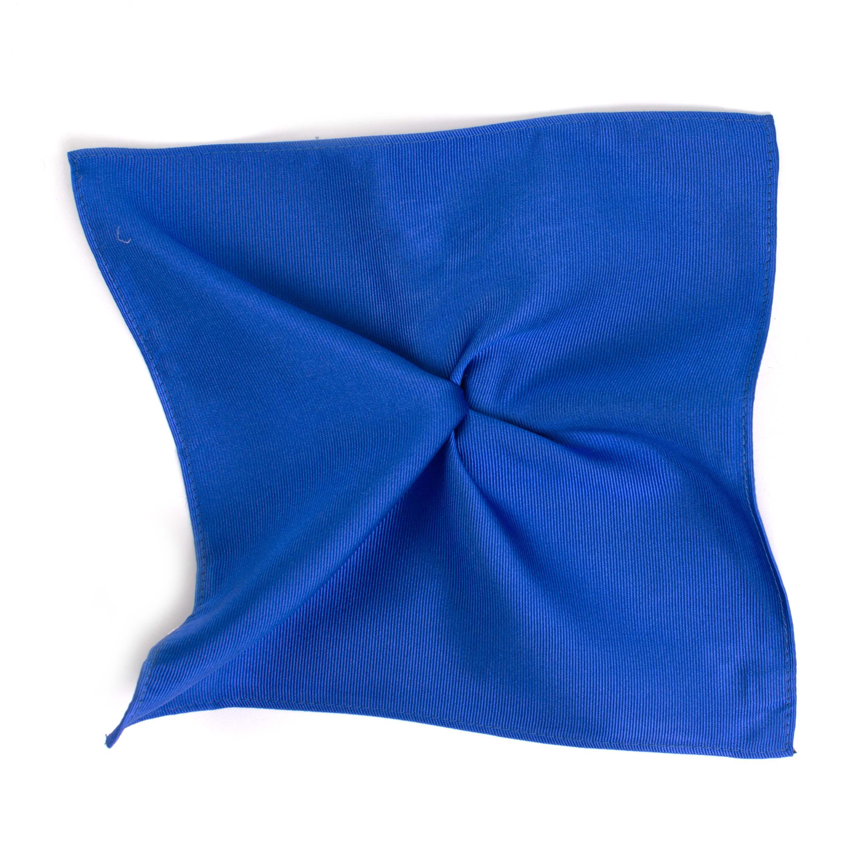 Pocket square classic royal blue ribbed
