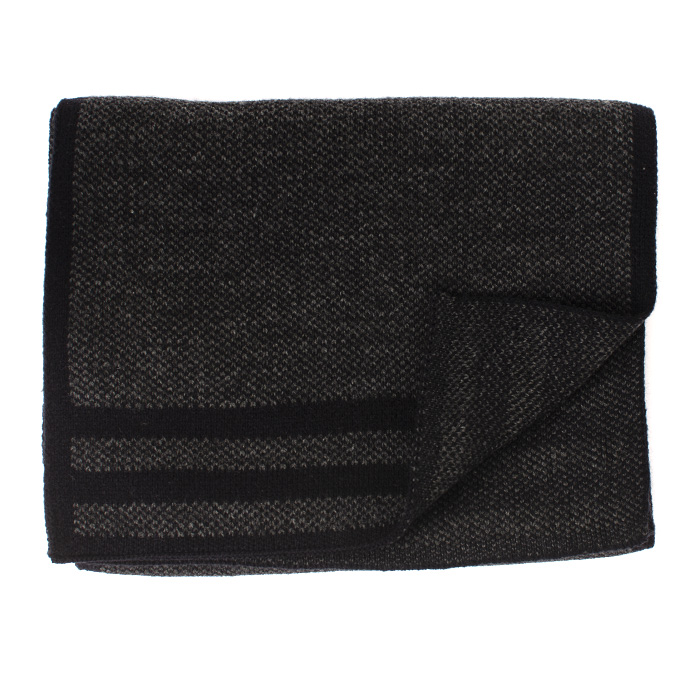 Jowin | Knitted scarf with colored border grey