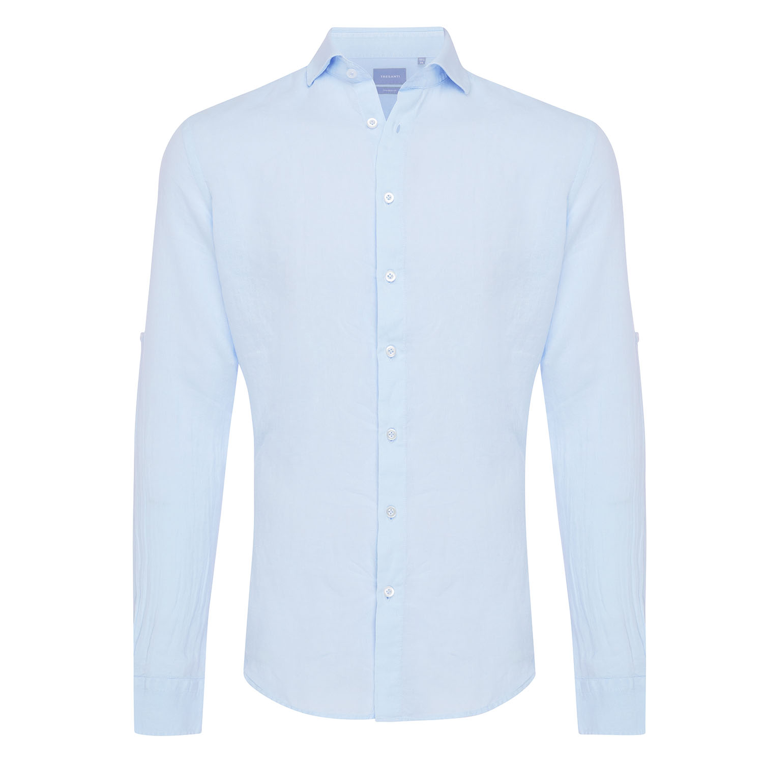 Tristan | Basic linen shirt light blue