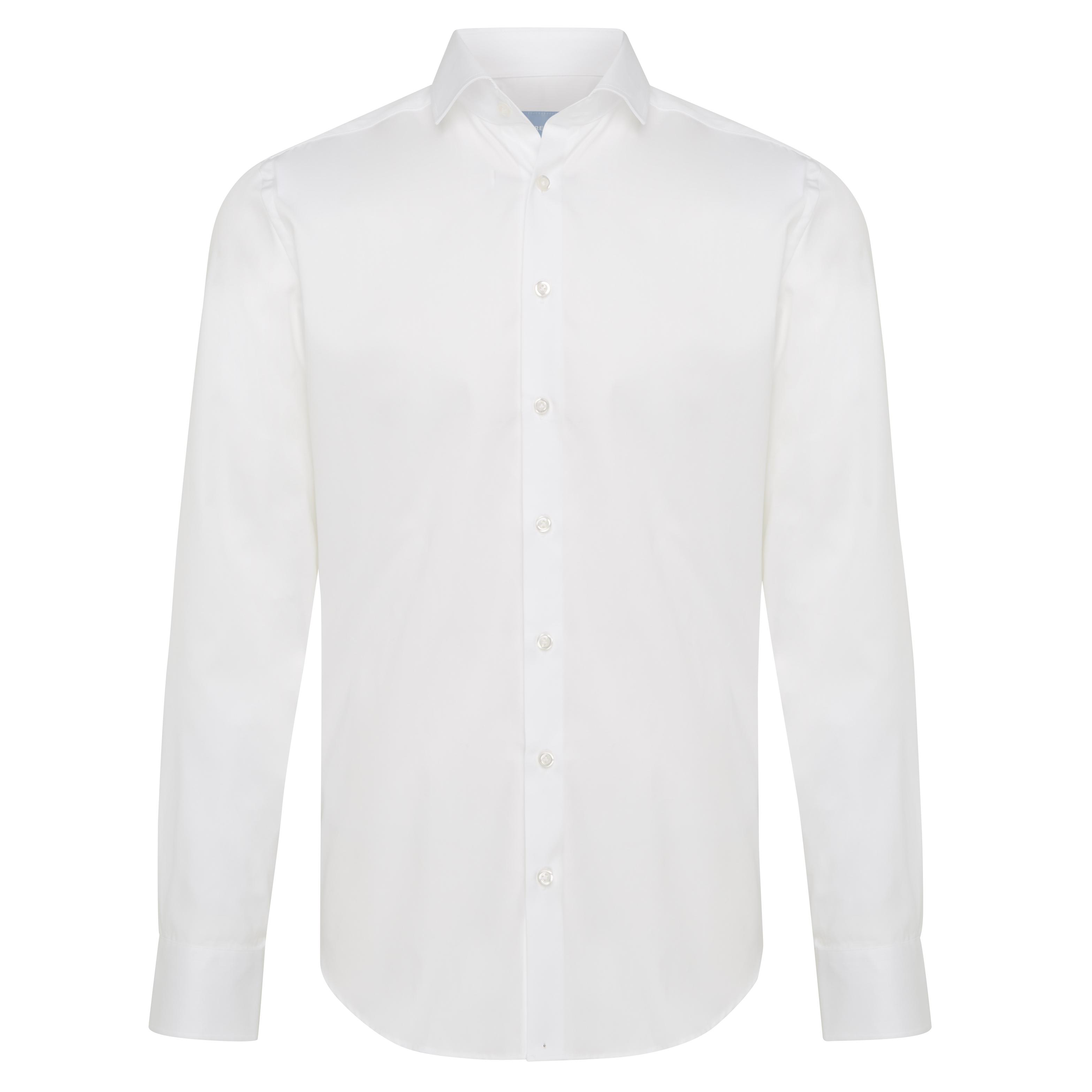 Non-iron shirt plain white - Tailored Fit