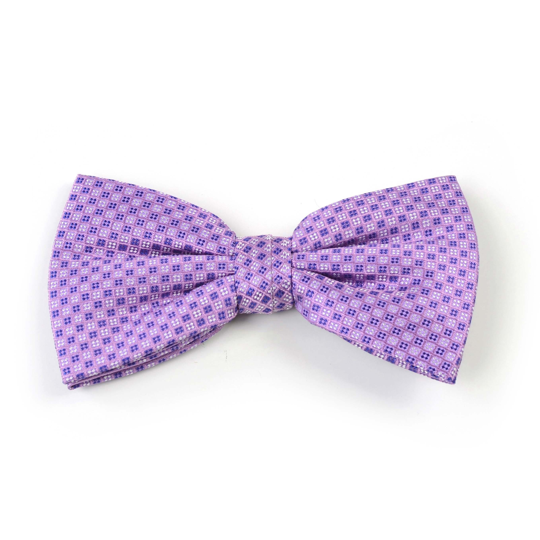 Bow tie silk lilac/navy/white