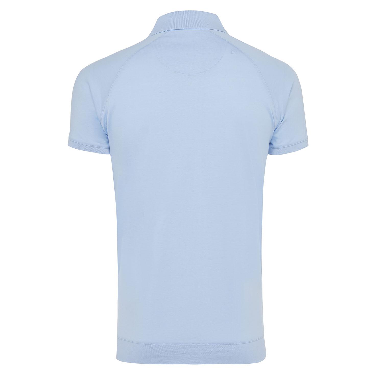 Maurits | Polo cotton mercerized striped light blue