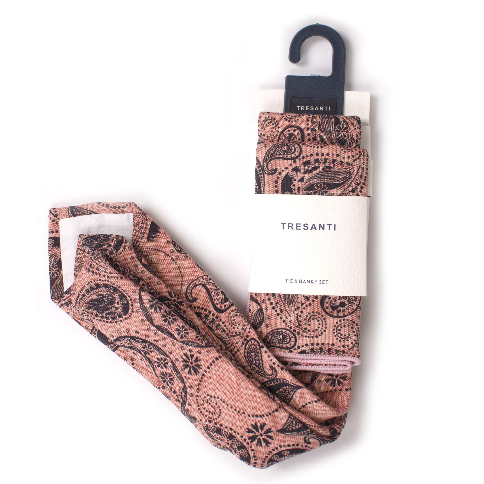 Cotton set tie & hanky paisley design