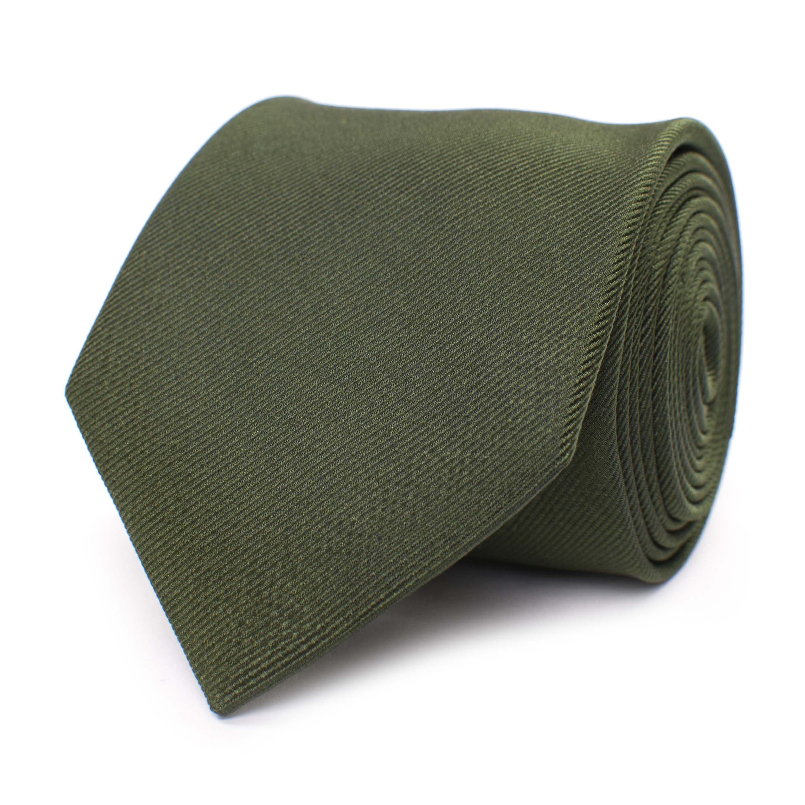 Tie classic ribbed green