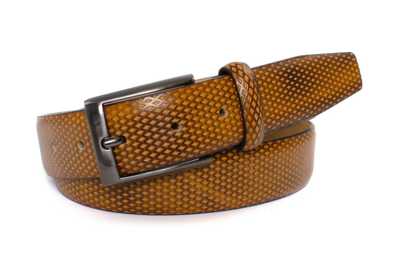 Belt cognac embossed leather