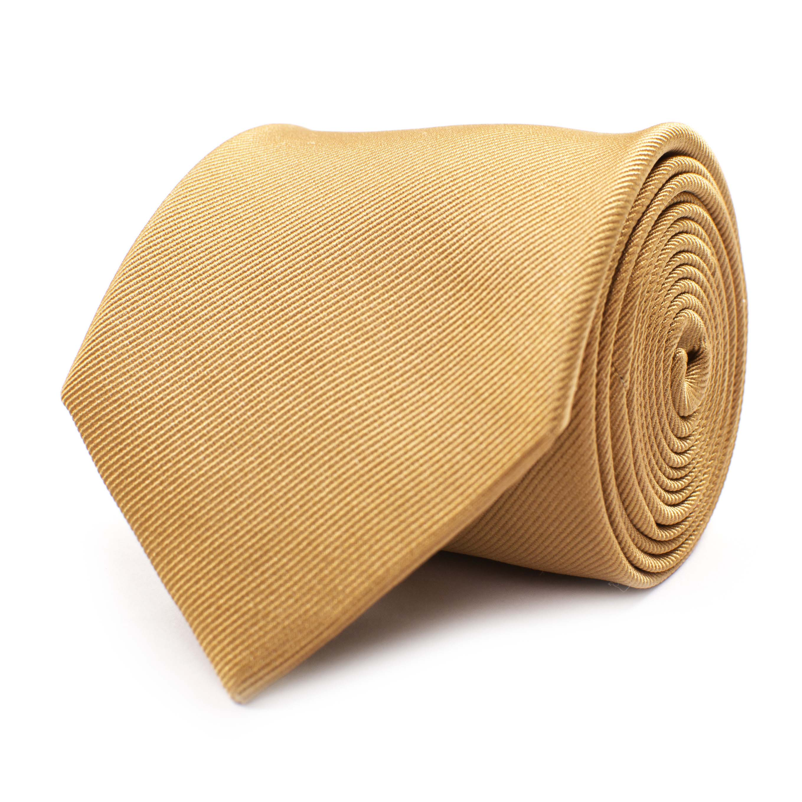 Tie classic ribbed camel