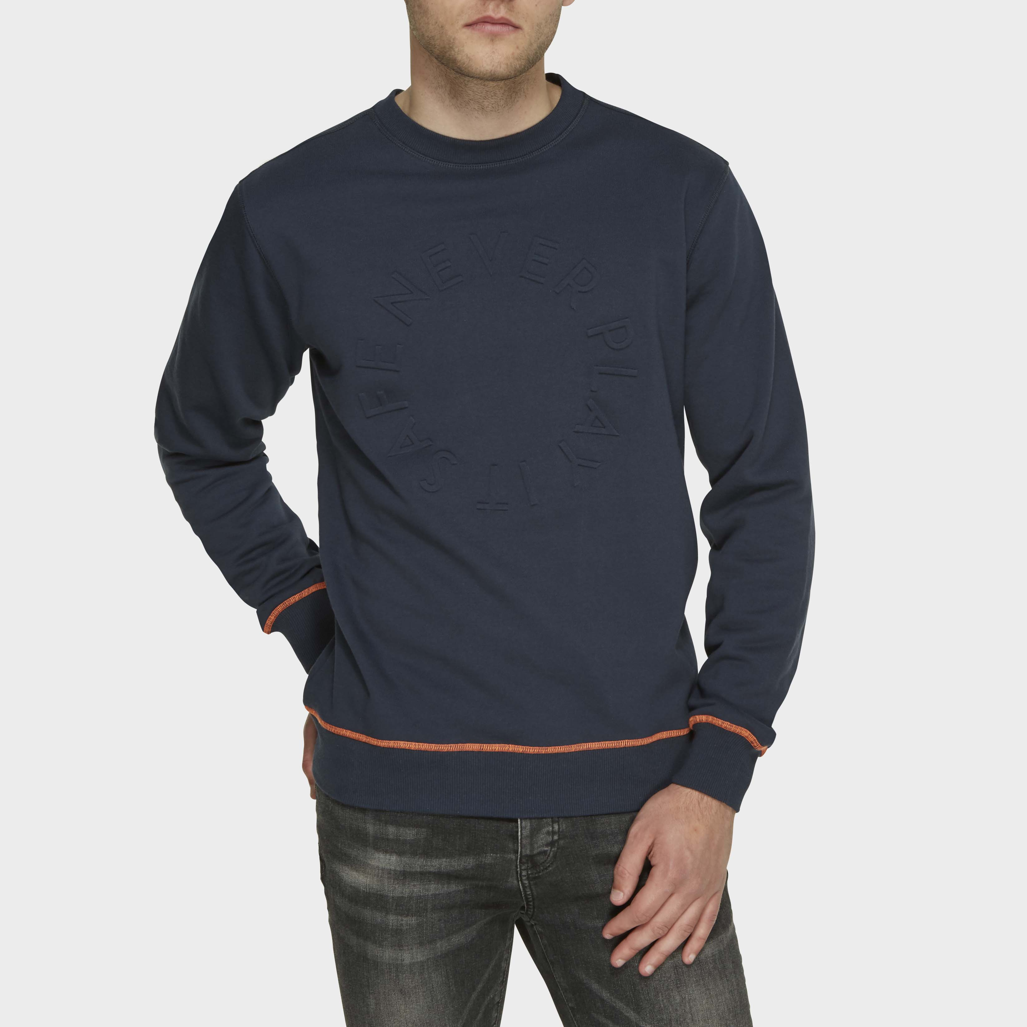 Ted | Sweater round-neck navy blue