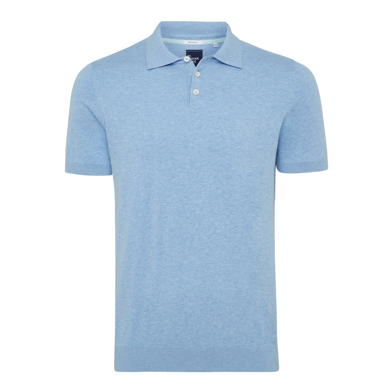 Trevor | Polo pullover light blue