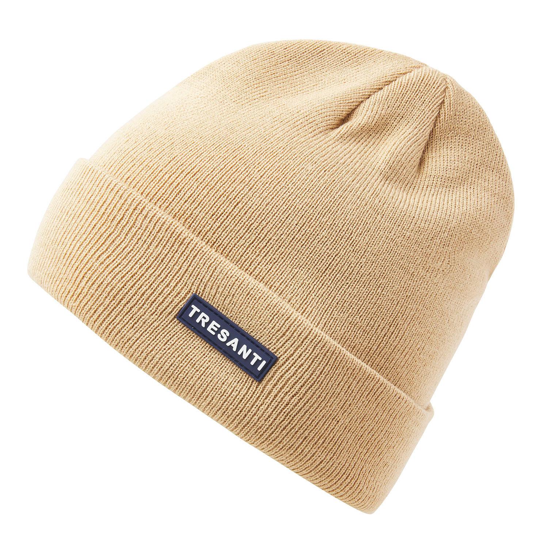 ERMEN | Fine knitted hat with TRESANTI logo in beige