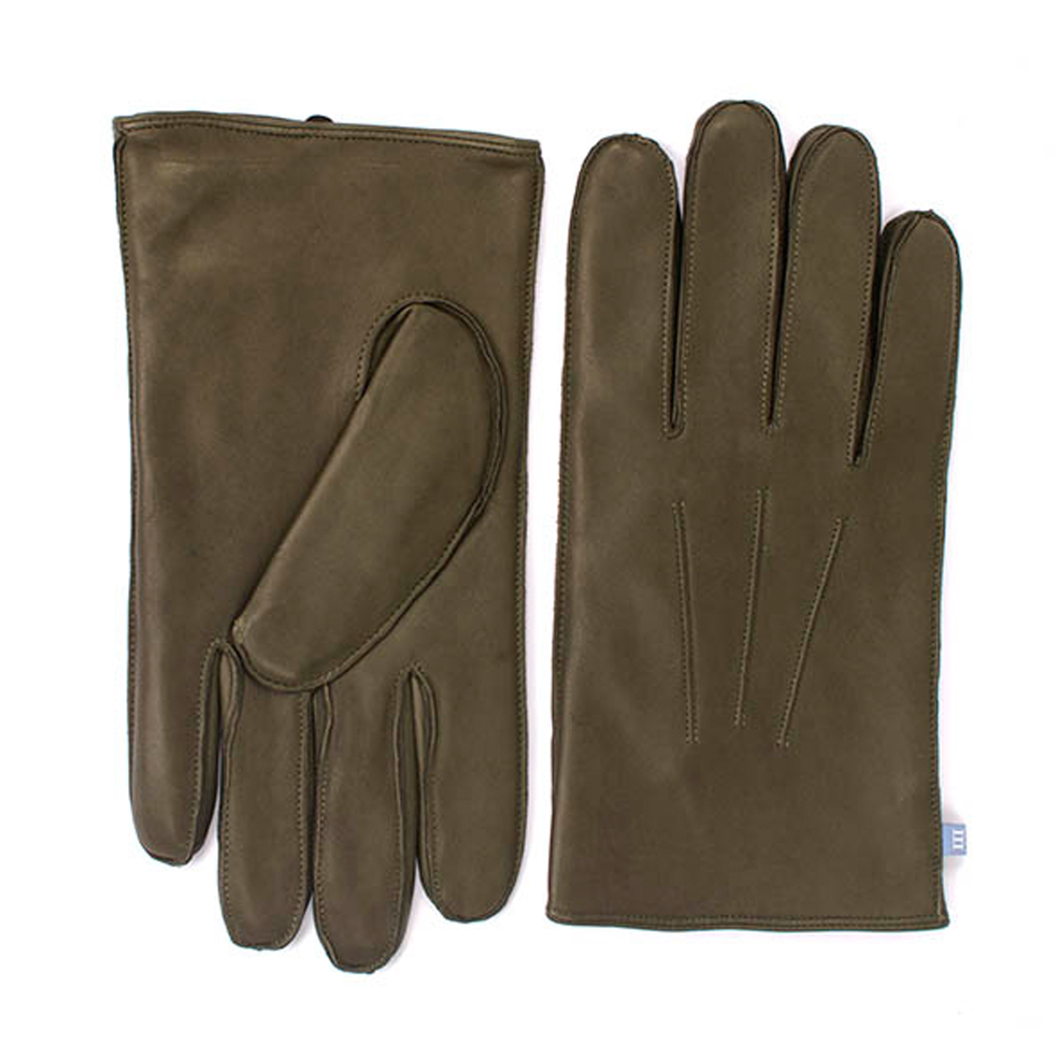 Army green sheep leather gloves
