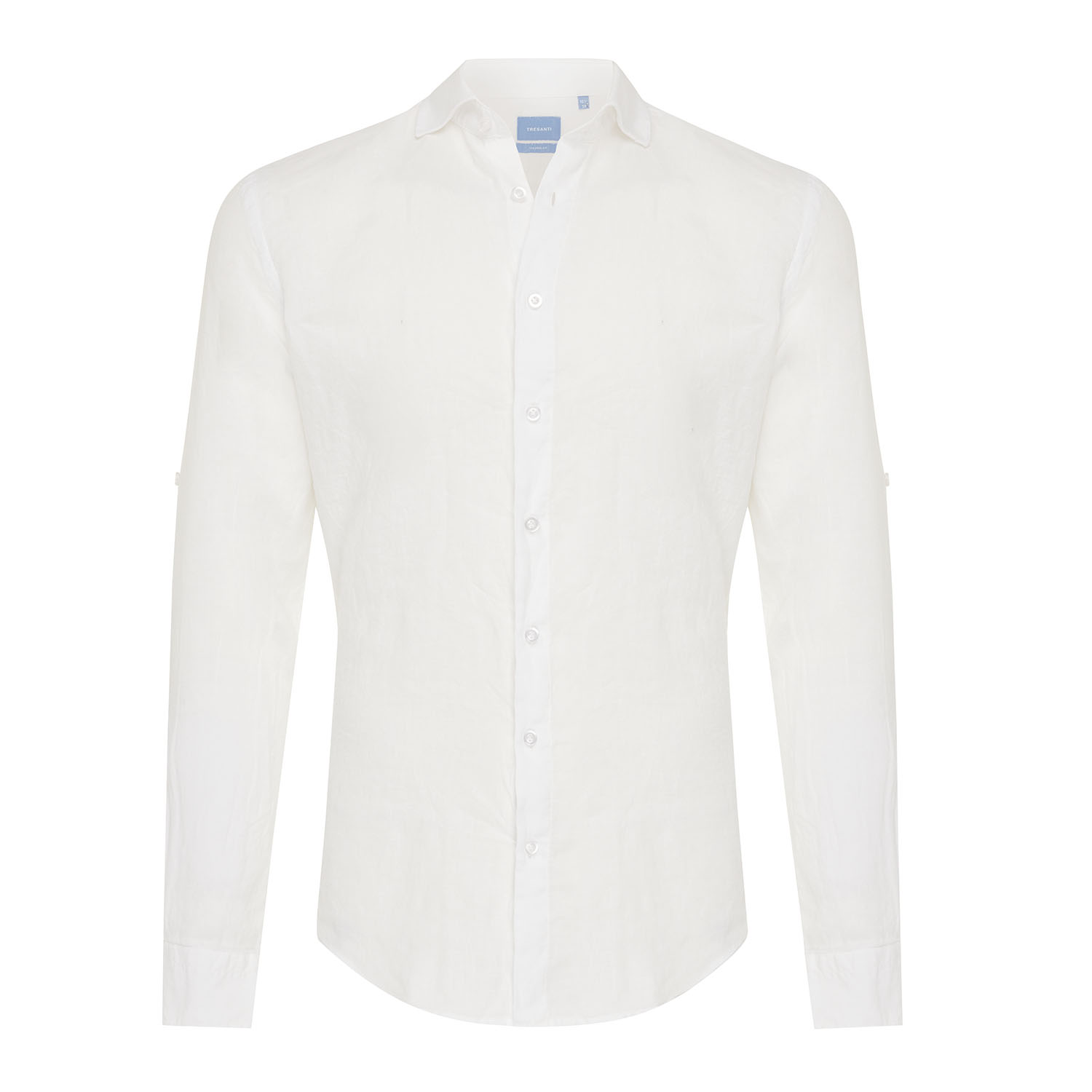Tristan | Basic linen shirt white