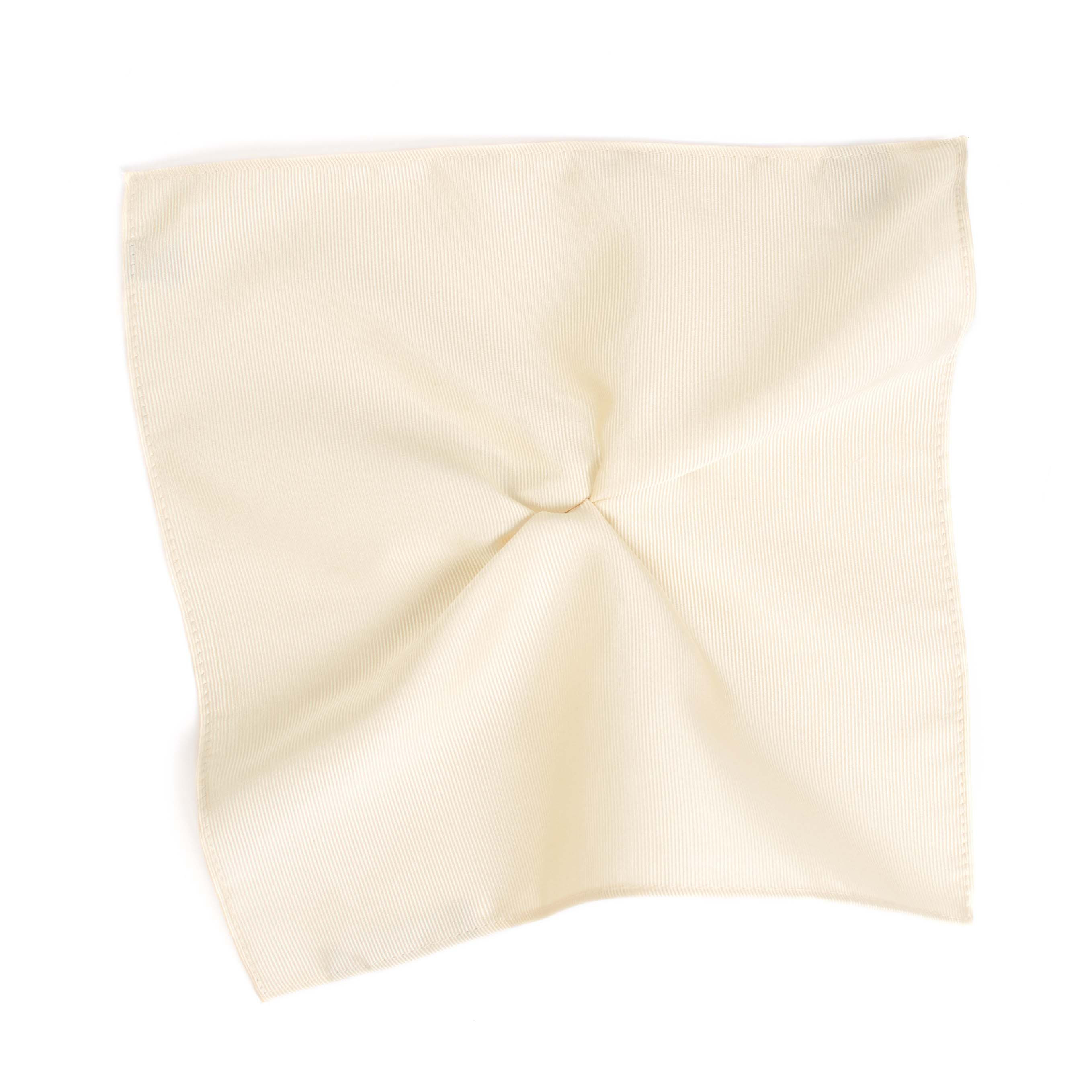 Pocket square classic ivory ribbed