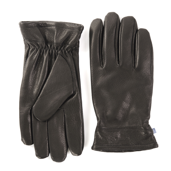 Gloves, soft deer leather, black