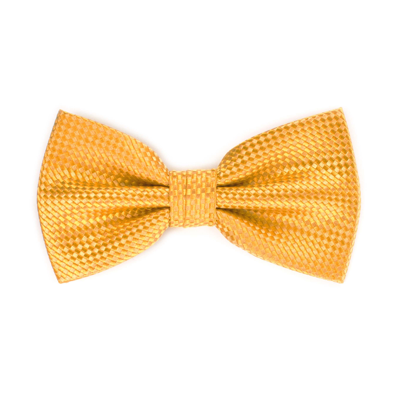 Bow tie silk panama yellow