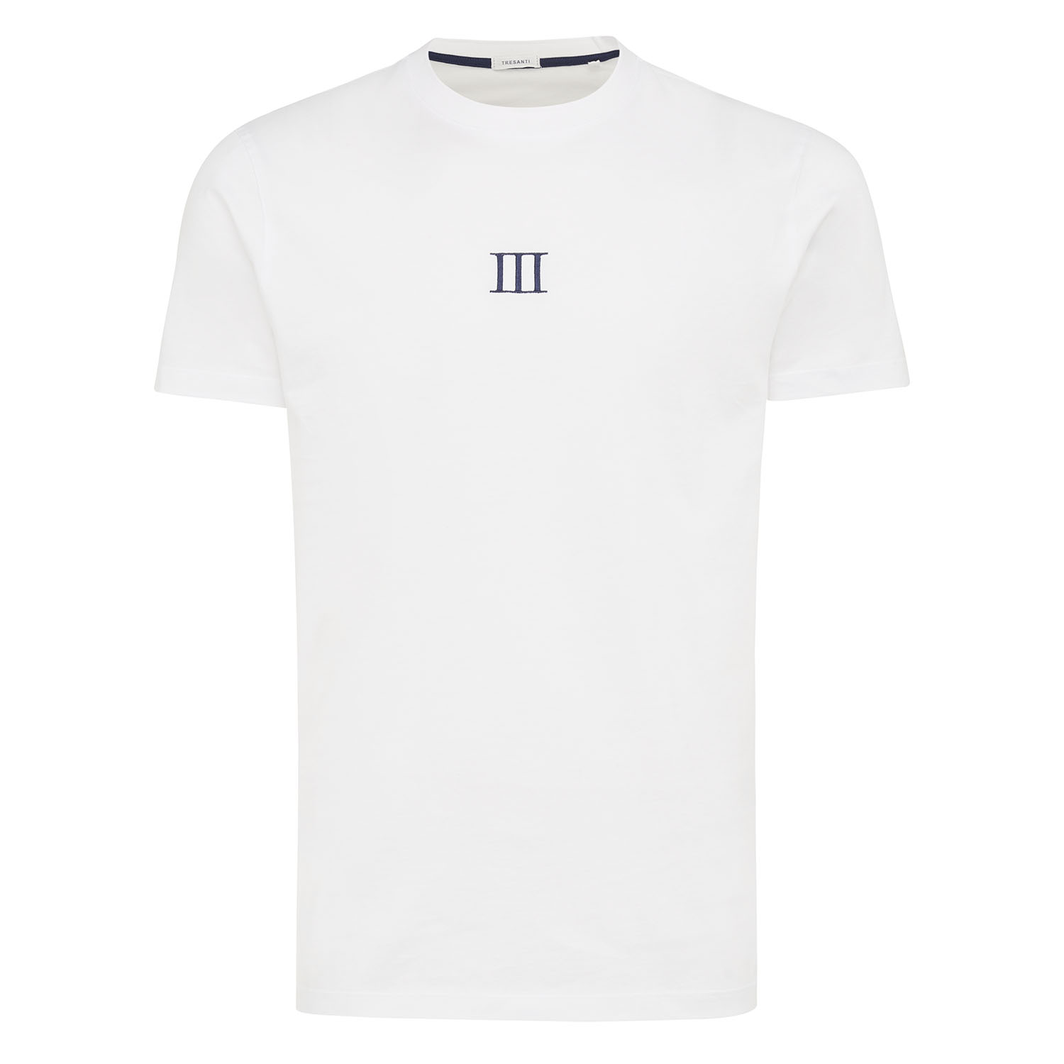 Michael | T-shirt Roman III embroidery white