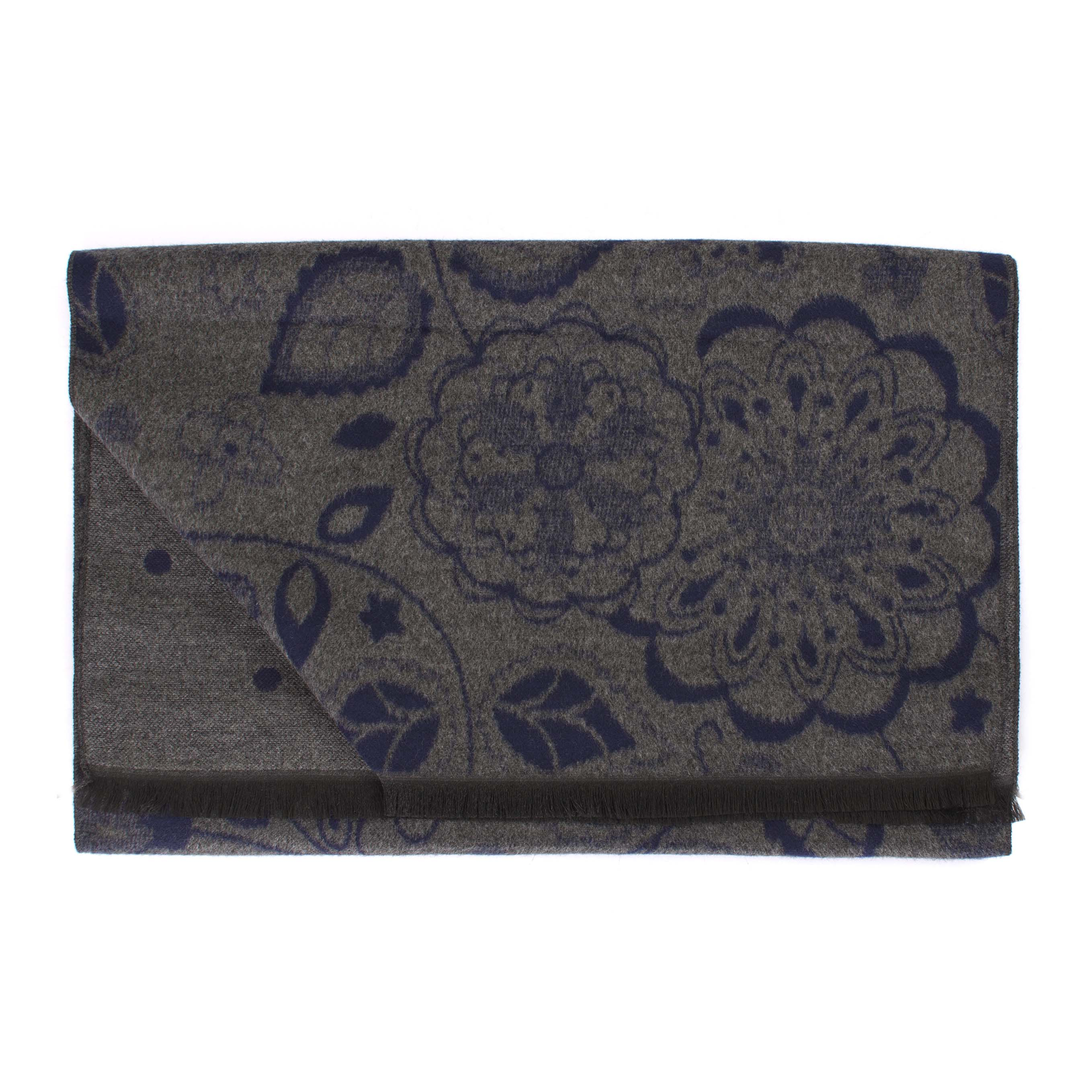 Scarf viscose double face flower
