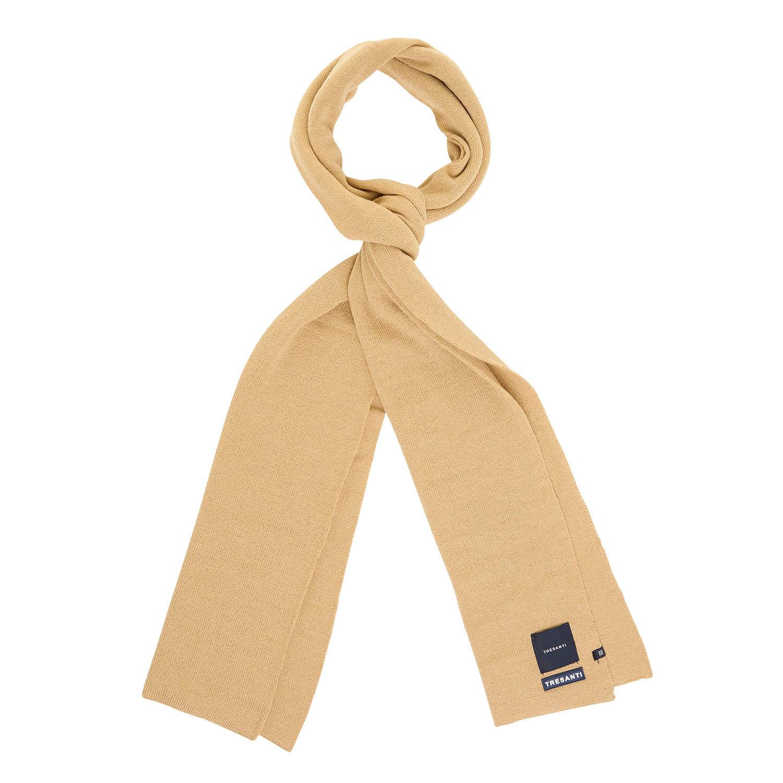 EAN | Fine knitted scarf with TRESANTI logo beige