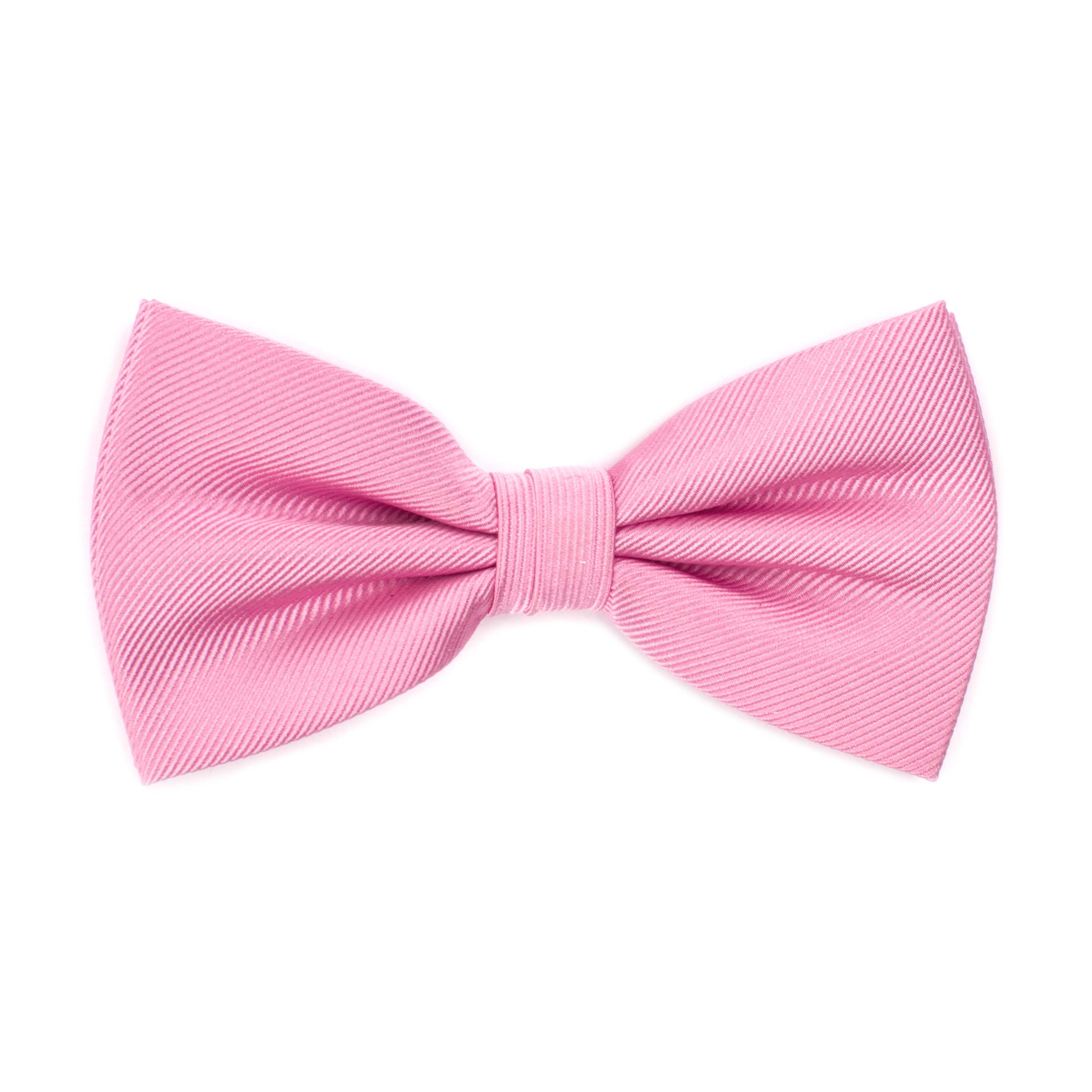 Bow tie classic ribbed pink