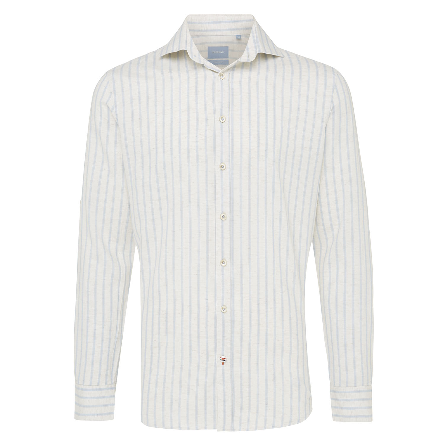 Moos | Shirt vertical stripe light blue