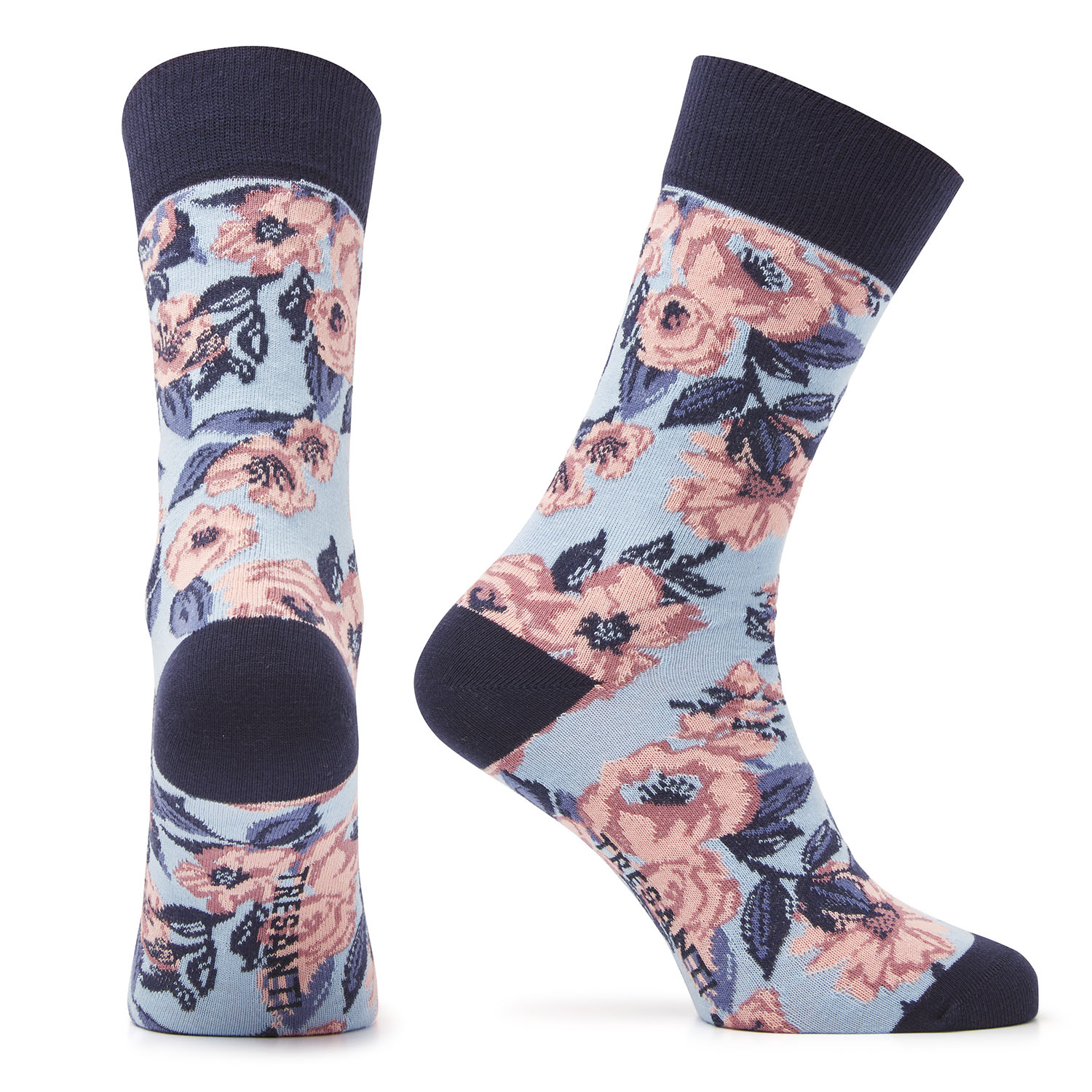 Muaz | Cotton socks flowers blue