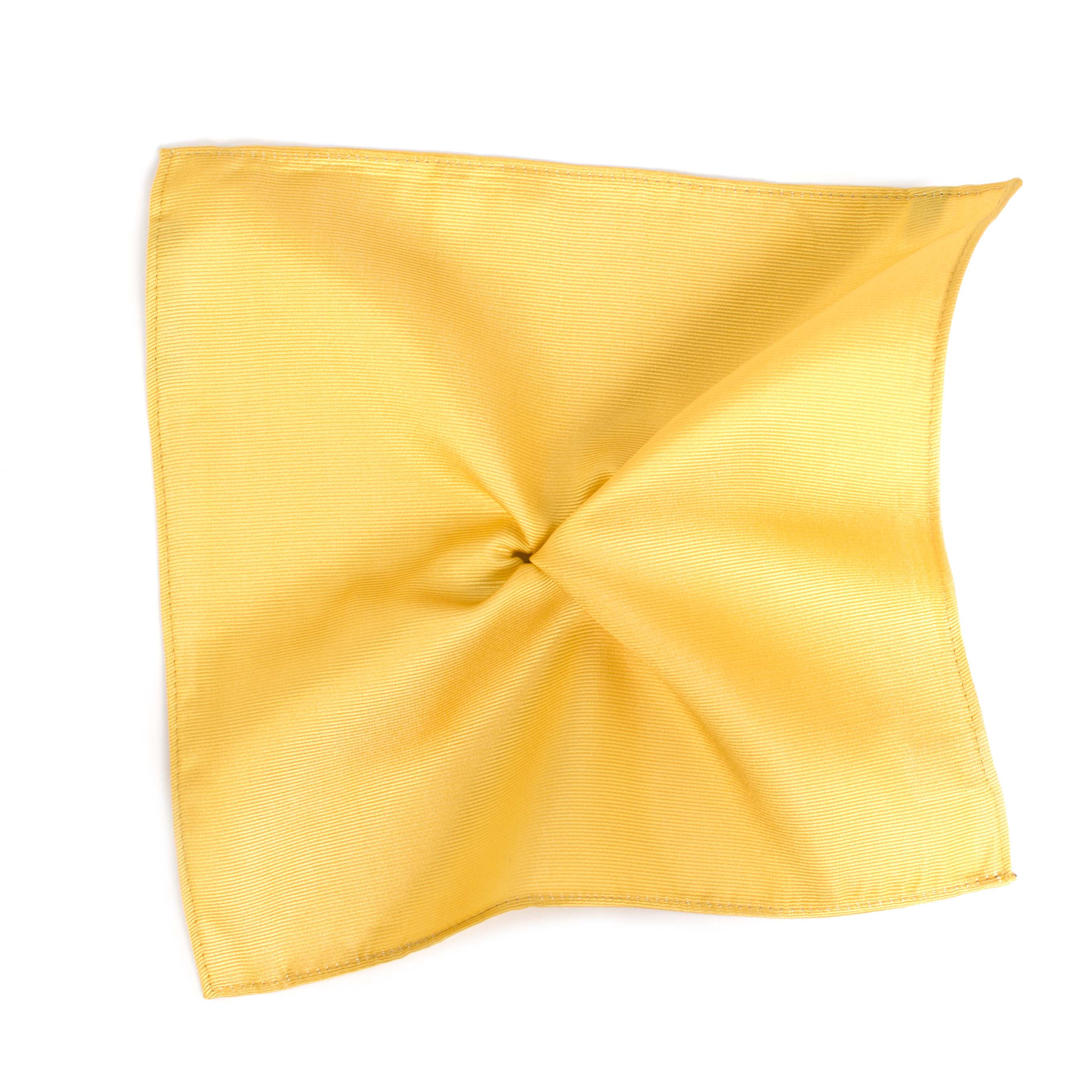 Classic gold ribbed pocket square