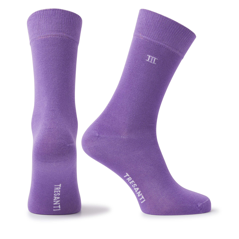 Socks bamboo purple